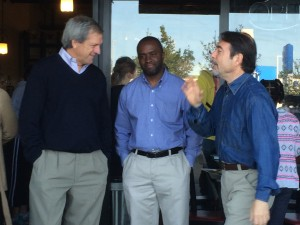 Mark with Assembly candidate Tony Thurmond and County Supervisor John Gioia